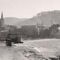 20_2727_Blick auf die Ev.- Reformierte Kirche und das Robert-Hunsdiecker Haus (Sanitätshaus) 1950
