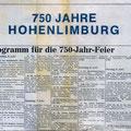59_1397_750 Jahr Feier Zeitungsausschnitt Programm