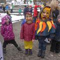 Und auch diesmal durften die Kinder wieder Masken anprobieren