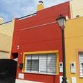 Aplicación de pintura acrilica portico oro.