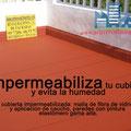 Impermeabilización de cubierta y aplicación de pintura en Sevilla.