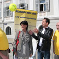Aktionismus des Blindenverbandes im Juni 2013