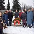 Gedenkfeier für die Opfer des 12.Feber 1934 am Mahnmal für die Opfer des Faschismus in Annabichl