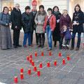 Aktion Rosen statt Veilchen im November 2012
