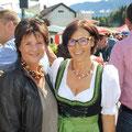 Mit Gusti Gasser von der SPÖ Ludmannsdorf beim Kartoffelfest im September 2017