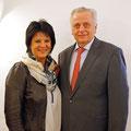 Ines Obex-Mischitz mit Präsidentschaftskandidat Rudolf Hundstorfer am 10. März 2016