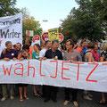 Demonstration Neuwahl Jetzt im August 2012