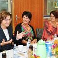 LHStv. Beate Prettner, Ines Obex-Mischitz und Ana Blatnik beim Vernetzungsfrühstück im Juni 2014