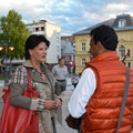 Gesprächsrunde mit Landeshauptmann Peter Kaiser zur aktuellen Flüchtlingssituation im Stadttheater Klagenfurt am 6. September 2015