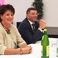 Mit Bundesminister Jörg Leichtfried bei einer Ehrungsfeier Ende September 2017
