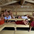 Fitness-Oase Regen: Blockhaussauna