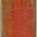 """tOG Nr. C.U.F. 061 - Künstler C.U. FRANK - Werk Titel """"Ausriss-II"""", 2014, Acryl auf Jute auf Holzkeilrahmen, 72x52x4cm von C.U. FRANK in der tOG Düsseldorf.jpg"""