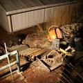Treppe betonieren bis in die Nacht...
