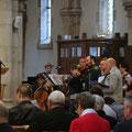 ... animée par les choristes et instrumentistes de Montsort sous la direction d'Olivier Beaudoin