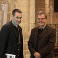 Quelques minutes avant la conférence, Mgr Habert et P. Loïc