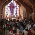 Dans la belle chapelle du lycée agricole de Giel, première célébration en invoquant l'Esprit Saint, comme dans les Actes des Apôtres !
