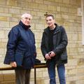 A droite, Julien Barbier, chargé de travaux à la Maison Diocésaine ; à côté de lui, Jean-Charles Rébillon, comptable du doyenné