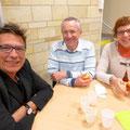 Au cours du repas-jeûne avec Pascal et Sylvaine