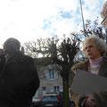 M. Dibo, adjoint aux travaux, Mme Perrichot, architecte et Annick Le Brun, sacristine