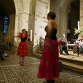 Démonstration de flamenco avec Wendy, 13 ans (de face)...