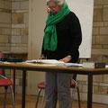 Dominique Chappée, de la troupe Théâtre Jeunes Vivants, a lu un texte en fin de rencontre