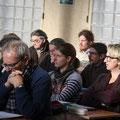 Au premier plan, à gauche, M. Daniel Vermot-Gaud (diacre à Flers); et derrière, l'aumônier laïc du CPO, Thierry Lepecq