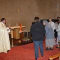 Chacun a pu déposer ses intentions au pied de l'autel...