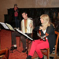 Patrick à l'accordéon et Maryse à la guitare