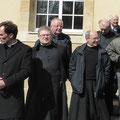 Don(s) Alban Dyèvre, René-François Charbonnel, Jacques Vautherin (recteur) de la Communauté Saint Martin