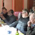 PP. Guy Lenormand, don René-François Charbonnel, Charles Soro, Laurent Gastineau, Edouard Léger. Derrière à droite on devine P. Thierry Hénault-Morel