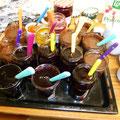 Un grand choix de confitures et de pâte au chocolat (bravo Elisabeth !) pour accompagner les crêpes