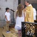 Renonciation au mal et profession de foi des enfants, de l'assemblée, puis de Natacha et William