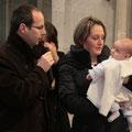 Demande du baptême par les parents : Jean-Baptiste et Guénola