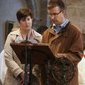 La prière universelle est lue par des couples : Marie-Céline et Georges...