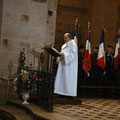 L'Évangile est proclamé par le diacre Philippe Auffret