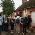 Devant la maison de Rose Taillé à Semallé