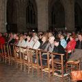 Les nombreuses personnes présentes à la basilique étaient conquises