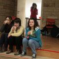 Il n'y avait pas assez de place ! Ombeline, Céline et Judith sur les marches (jeunes professionnels)