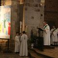 Proclamation de l'Évangile par le diacre, Gilles Dauphin