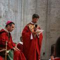 et sa présentation à l'évêque par le supérieur du séminaire : P. Pierre-Antoine Bozo