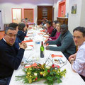 A l'autre bout de la table : à gauche, Philippe ; à droite : Mickaël, P. Emmanuel, Ombeline des étudiants et jeunes pros