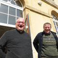 PP. Edouard Léger et Christophe Peschet très très heureux de se retrouver
