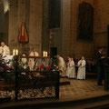 La messe est présidée par le P. Stéphane Cailliaux