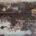 """o. T. aus """"Gebrauchsspuren"""", Pigmente auf Leinwand, 100 x 200cm"""
