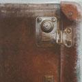 """o. T. aus """"Gebrauchsspuren"""", Pigmente auf Leinwand, 100 x 80 cm"""