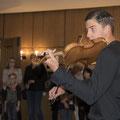 Johannes Schmitz an der Geige