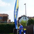 hissen der neuen Fahne