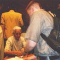 Ralf bei der Autogrammstunde von Saburo Kato