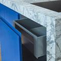 Exklusive Landhausküche, Marmor Invisible Blue (Bilder Firma Huber Naturstein/ Fotograf Andreas Acktun)