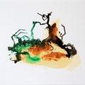 Termitenhügel 3, 34x48 cm